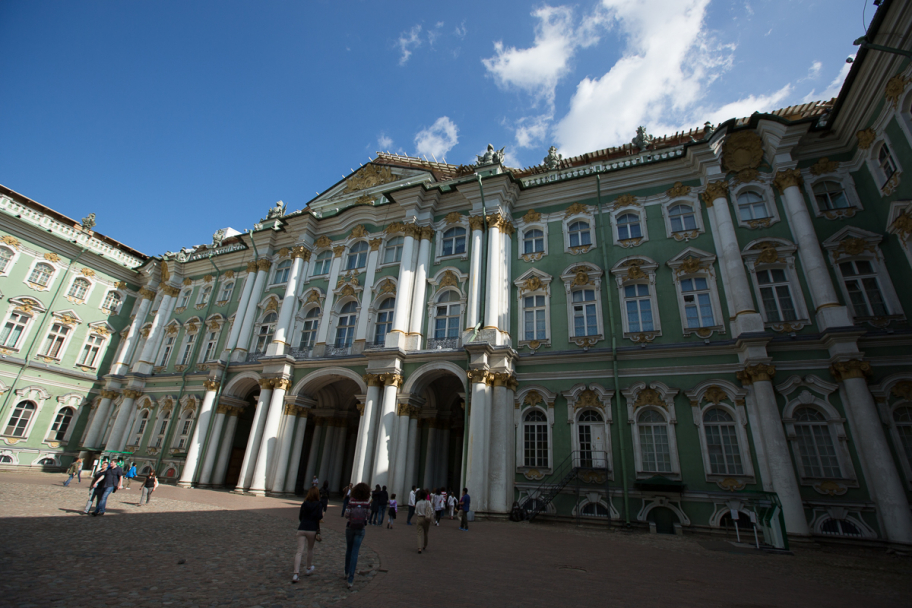 Hermitage Palace: Hermitage Palace in Saint Petersburg, Russia