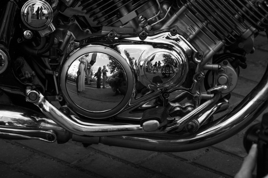 motoreflections: the reflection in the motor cover