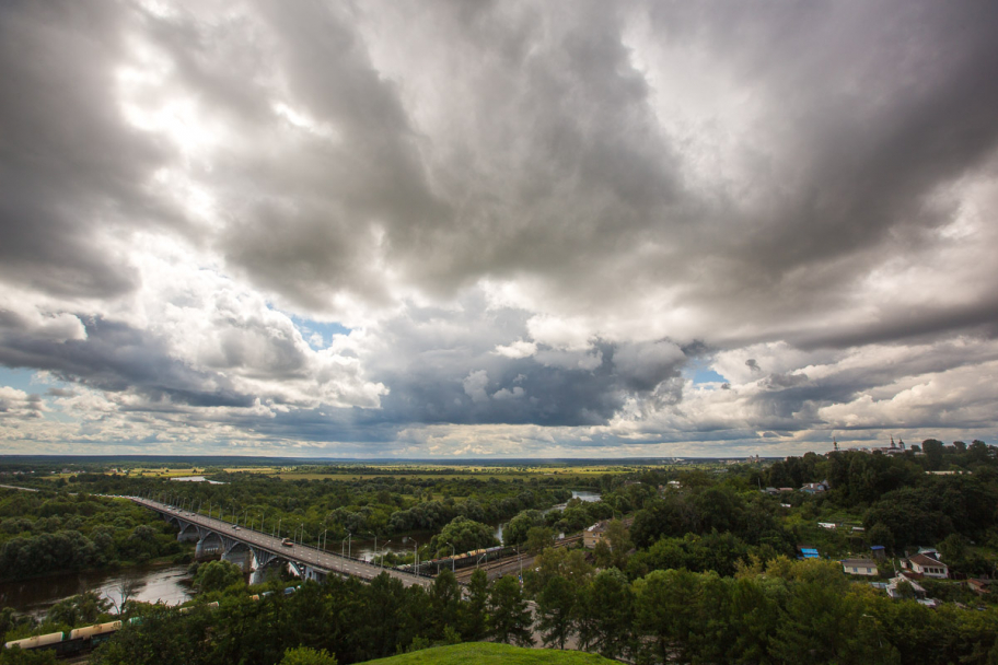 the weather in Vladimir city: the view from the observation deck, Vladimir city, Russia.